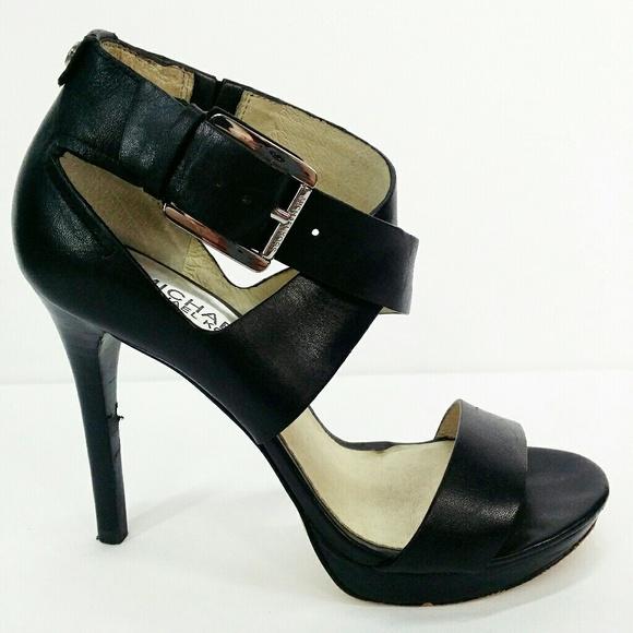 d94ad834a4f Michael Kors ST14D Heels Black Size 6 M Shoes. M 5c299cc8bb7615ac01d3af3a
